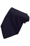 Men's Solid Color Tie Navy Thumbnail