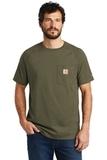Carhartt Force Cotton Delmont Short Sleeve T-Shirt Moss Thumbnail