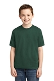Youth 50/50 Cotton / Poly T-shirt Forest Green Thumbnail