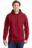 Ultimate Cotton Pullover Hooded Sweatshirt Deep Red Thumbnail