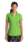 Women's Nike Golf Shirt Dri-FIT Micro Pique Polo Shirt Action Green Thumbnail