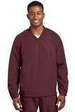 V-neck Raglan Wind Shirt Maroon Thumbnail