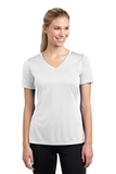 Women's V-neck Competitor Tee White Thumbnail