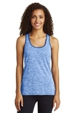 Women's Electric Heather Racerback Tank True Royal Electric with True Royal Thumbnail
