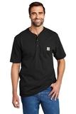Short Sleeve Henley T-Shirt Black Thumbnail