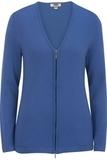 Women's Full Zip V-Neck Sweater French Blue Thumbnail