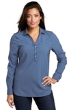 Ladies City Stretch Tunic True Blue with White Thumbnail