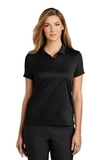 Women's Nike Golf Dry Essential Solid Polo Black Thumbnail