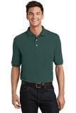 Pique Knit Polo Shirt With Pocket Dark Green Thumbnail