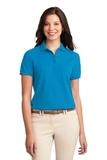 Women's Silk Touch Polo Shirt Turquoise Thumbnail