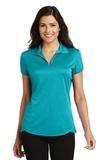 Women's Trace Heather Polo Shirt Tropic Blue Heather Thumbnail