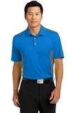 Nike Golf Dri-fit Engineered Mesh Polo Aero Blue with Dark Grey Thumbnail