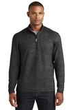 Sport-Wick Stretch Reflective Heather 1/2-Zip Pullover Black Thumbnail
