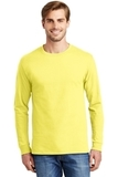 Tagless 100 Comfortsoft Cotton Long Sleeve T-shirt Yellow Thumbnail