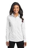 Women's Port Authority Dimension Knit Dress Shirt White Thumbnail