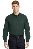 Long Sleeve Superpro Twill Shirt Dark Green Thumbnail