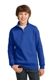 Youth 1/4-zip Cadet Collar Sweatshirt Royal Thumbnail