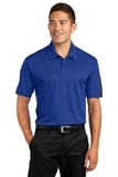 Active Textured Colorblock Polo True Royal with Grey Thumbnail