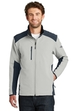 The North Face Tech Stretch Soft Shell Jacket Mid Grey with Urban Navy Thumbnail