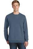 Essential Pigment-Dyed Crew-Neck Sweatshirt Denim Blue Thumbnail