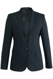 Redwood & Ross Signature Ladies Single Breasted Poly/wool Suit Coat Navy Pinstripe Thumbnail