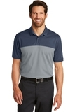 Nike Golf DriFIT Colorblock Micro Pique Polo Navy with Cool Grey Thumbnail