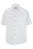 Men's Button Down Poplin Shirt SS White Thumbnail