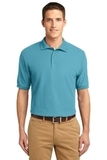Extended Size Silk Touch Polo Shirt Maui Blue Thumbnail