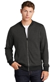 Lightweight French Terry Bomber Heather Black Thumbnail