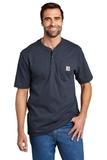 Short Sleeve Henley T-Shirt Navy Thumbnail
