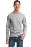 Moisture Management 50/50 Cotton / Poly Long Sleeve T-shirt Ash Thumbnail