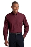 Tall Crosshatch Easy Care Shirt Red Oxide Thumbnail