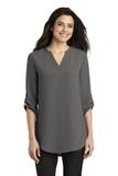 Women's 3/4-Sleeve Tunic Blouse Sterling Grey Thumbnail
