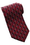 Men's Silk Honeycomb Tie Wine Thumbnail