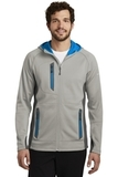 Eddie Bauer Sport Hooded Full-Zip Fleece Jacket Grey Cloud with Grey Steel and Expedition Blue Thumbnail