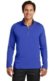 Nike Golf Dri-FIT Stretch 1/2-Zip Cover-Up Deep Royal Blue with Black Thumbnail
