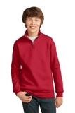 Youth 1/4-zip Cadet Collar Sweatshirt True Red Thumbnail