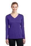 Women's Long Sleeve V-neck Competitor Tee Purple Thumbnail
