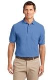 Tall Silk Touch Polo Shirt With Pocket Ultramarine Blue Thumbnail
