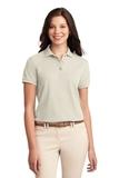 Women's Silk Touch Polo Shirt Light Stone Thumbnail