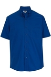 Men's Easy Care Poplin Shirt SS Royal Thumbnail
