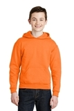 Youth Pullover Hooded Sweatshirt Safety Orange Thumbnail