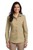 Women's Long Sleeve Carefree Poplin Shirt Wheat Thumbnail
