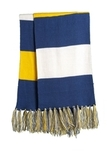 Spectator Scarf True Royal with Gold and White Thumbnail