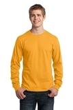 Long Sleeve 5.4-oz. 100 Cotton T-shirt Gold Thumbnail