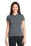 Women's Nike Golf Dri-FIT Solid Icon Pique Modern Fit Polo Dark Grey Thumbnail