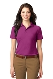 Women's Stain-resistant Polo Shirt Boysenberry Pink Thumbnail