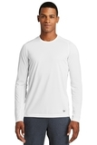 New Era Series Performance Long Sleeve Crew Tee White Solid Thumbnail