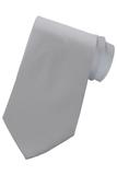 Men's Solid Color Tie Silver Thumbnail