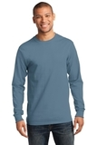 Essential Long Sleeve T-shirt Stonewashed Blue Thumbnail